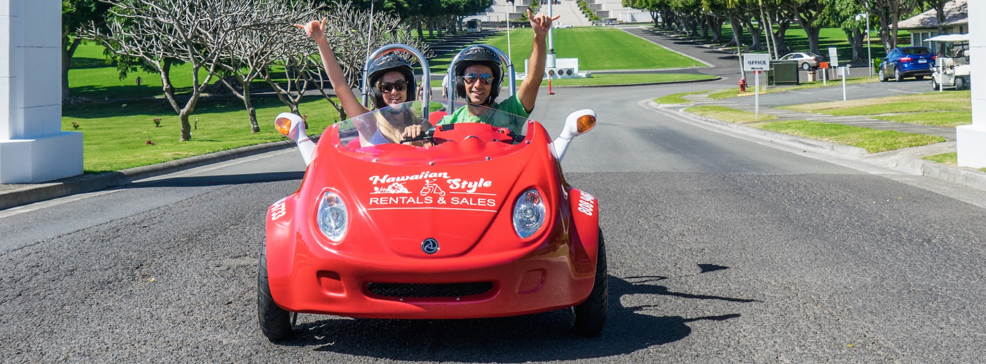 Hawaii's only two Person Moped the Scoot Coupe